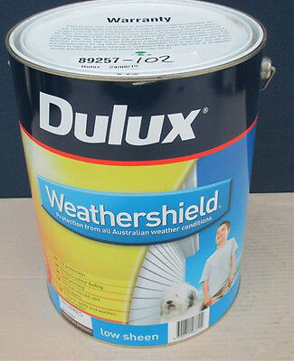 Dulux Weathershield 10 Litre Low Sheen Mission Brown PAINT CAN FREIGHT