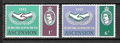 Ascension Sc#54-5 MNH  International Co-Operation Year, 1965