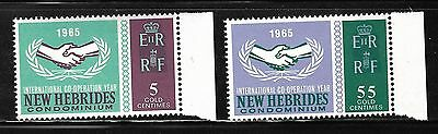 New Hebrides Sc#110-1 MNH  International Co-Operation Year, 1965