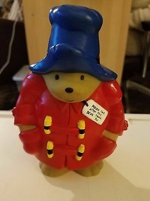 "7 1/4"" Tall Paddington Bear Piggy Bank from 1995. Extremely Nice Condition!"
