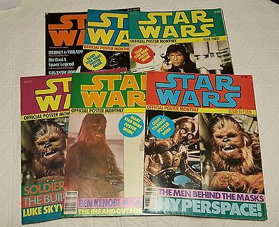 Lot 6 STAR WARS Official Poster Monthly Magazines #2 3 4 8 11 & Movie IV ~
