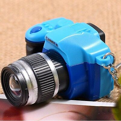 Cute Camera With Flash Light Sound Lucky Charm LED Luminous Keychains Top