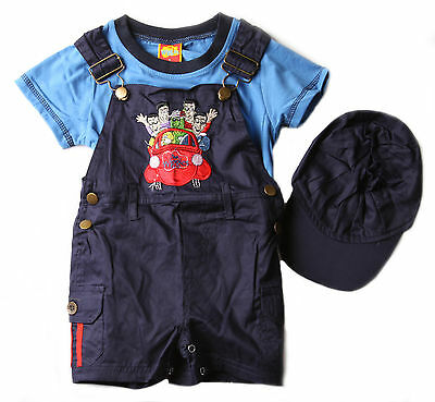 New Boys Children Kids Wiggles Summer Overall Shorts Outfit Set Size 0-3