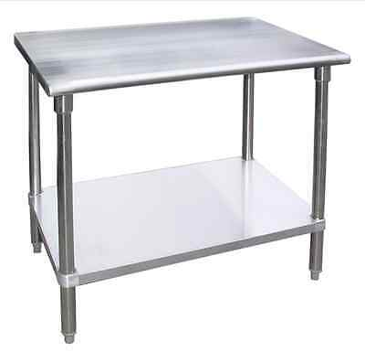 "18"" X 48"" Stainless Steel Work Prep Table Commercial Kitchen Restaurant. NSF."