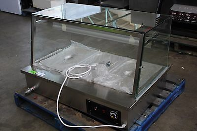 New Wellquip Benchtop Square Glass 3 Tray Bain Marie / Hot Food Bar