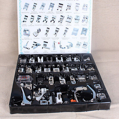 32pcs Domestic Sewing Machine Presser Foot Feet Set for Brother Singer Janome #5