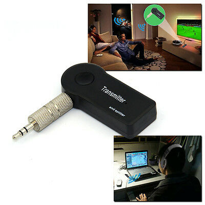 3.5mm Bluetooth Stereo Music Transmitter  A2DP Audio Adapter Dongle For TV PC UK