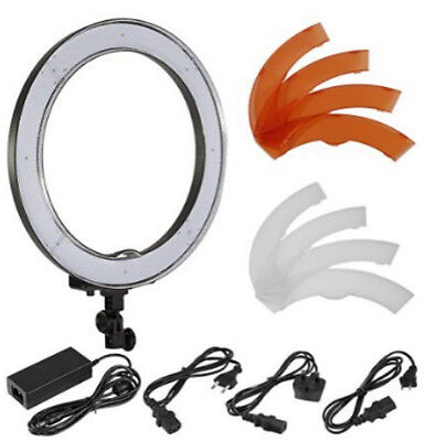 """18"""" 55W 240PCS LED SMD Ring Light 5500K Dimmable Ring Video Light w/ Light Stand"""