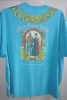 Merrie Monarch Hula Festival 37th Annual 1994 Mens XXXL Turquoise T-shirt/Nice