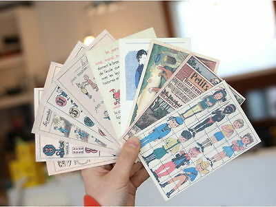 50 PCS VINTAGE Style Postcard Photo Picture Poster Post Cards Wall ...