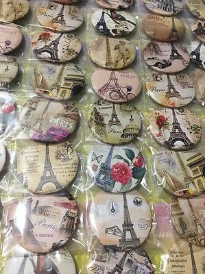6pcs Paris Tower 45mm Plastic Cartoon Badge Brooch Pin Birthday Party Lolly Bag