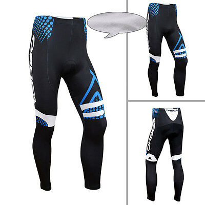 New Winter Mens Fashion Bicycle Tights Wear Cycling Pants With Padded Fleece