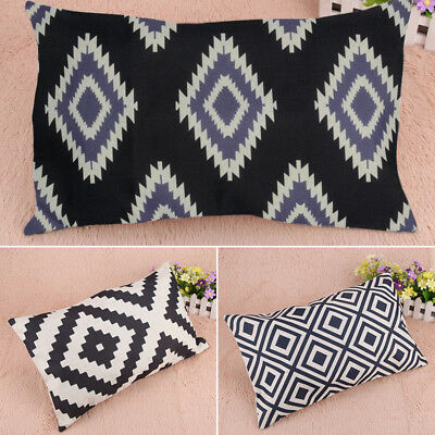 Modern Black White Geometric Sofa Cushion Cover Pillow Case Sofa Home Car Decor