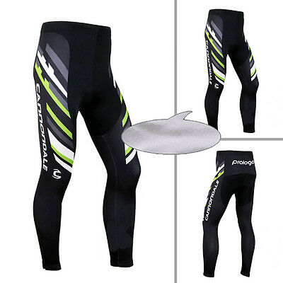 New Mens Cycling Tight Winter Racing Thermal Long Trousers Padded Pants Fleece