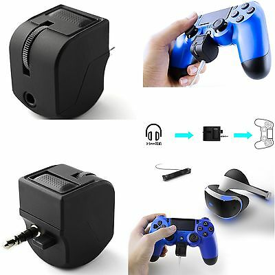 Headset Adapter Connector For PlayStation 4 Controller Volume Control 3.5MM Jack
