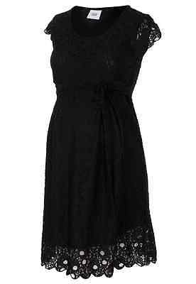 BNWT Size 14 Mamalicious Maternity Dress Black Lace Christmas Festive £45