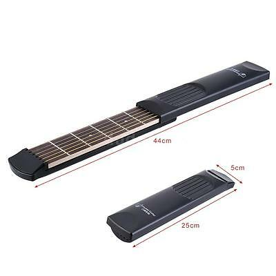 Pocket Acoustic Guitar Practice Tool Gadget 6 Fret Model for Beginner New O1I1