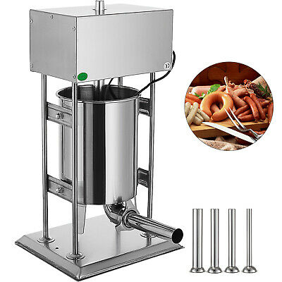 10L Electric Stainless Vertical Sausage Stuffer Meat Maker Filler Pork Stuffer