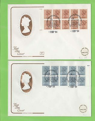 ??G.B. 1984 £1.30 & £1.70 booklet panes Cotswold First Day Covers, Windsor