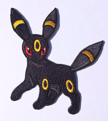 UMBREON Pokemon Go Patch Embroidered Sew/Iron-on Badge Costume Quality Applique