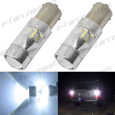 2x 1156 BA15S P21W Samsung LED Backup Light Reverse 60W White Projector Bulbs