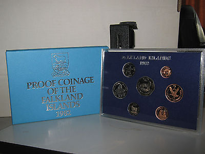 Falkland Islands proof coin year set 1982