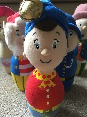 Noddy Skittles Set With Soft Ball Big Ears PC Plod Etc Soft And Beanie