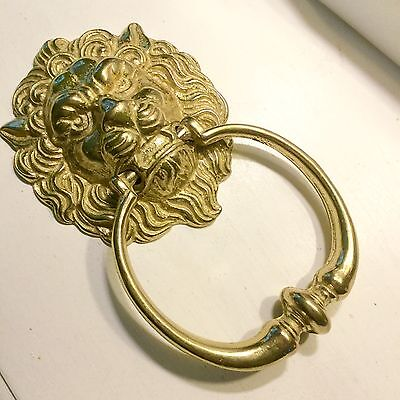 Vintage FIERCE LION SOLID BRASS DOOR KNOCKER