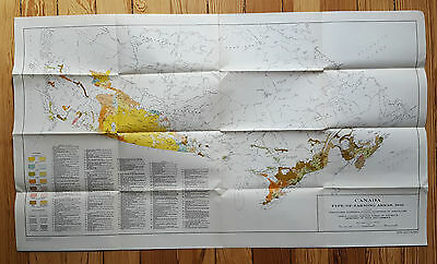 MAP - 1941 - Farming in Canada - types of farming crops, agriculture diagram