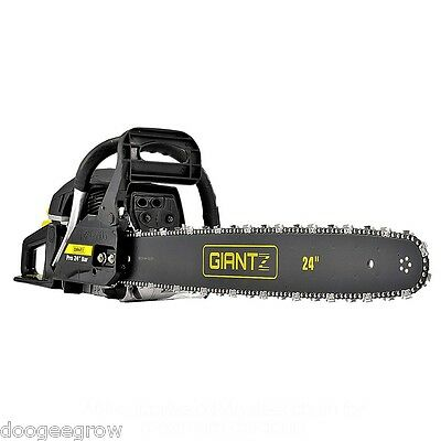 """66CC Petrol Chainsaw Pruning with 24"""" Robust Bar & chain +Safety Kit+Chain C"""