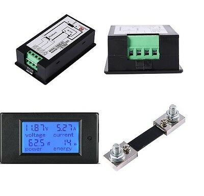 DC 100A Meter Voltage Current Power Energy Combo Monitor for Car Battery Solar M