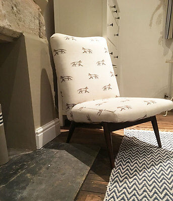 Parker Knoll easy chair mid century reupholstered cream fox vintage,retro,lounge