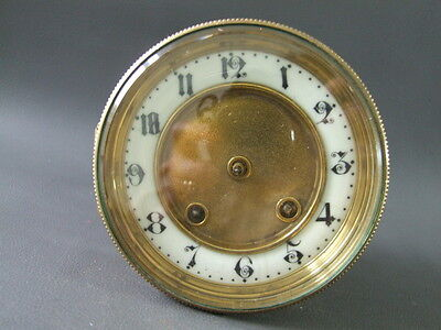 Vintage French Britannia clock movement dial bezel & glass - spares or parts