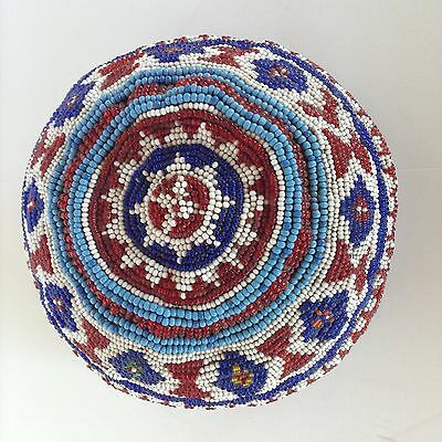 Antique Beaded Caucasian, Middle Eastern, Islamic, Uzbek Hat