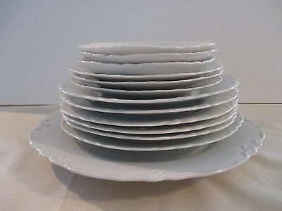 Racine Hutschenreuther Selb Bavaria White Dishes Lot Of 13