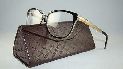 Ready Stock GUCCI GG 3701 4WH GOLD & BLACK Frames Glasses Eyeglasses Size 54
