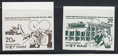 Vietnam / 2 Different Imperf Progressive Proofs MNH / USSR-VN Projects