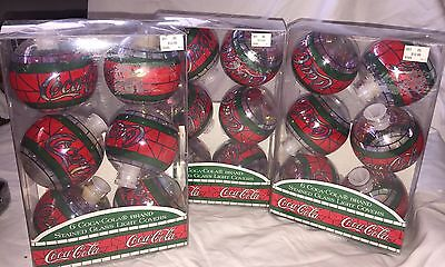 Lot of 18 COCA-COLA STAINED  GLASS  LIGHT  COVERS  1996