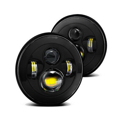 Land Rover Defender LED Headlights (6500K) H4 Connectors, E-Marked RHD (Pair)