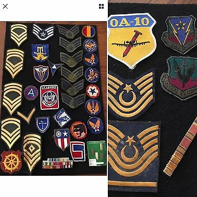 Vintage Lot of 36 ASSORTED MILITARY US PATCHES