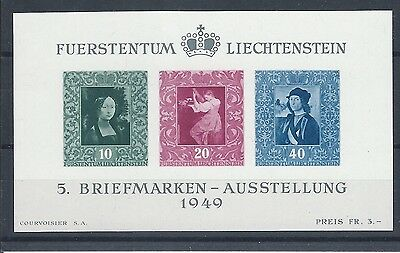 Liechtenstein 1949 Mi. Block 5 **