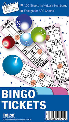600 Games Bingo Tickets Book Security Coded Jumbo Colour Pages 6 to View Leaves