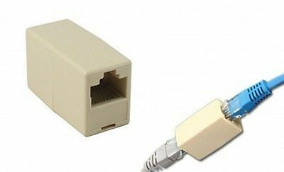 RJ45 Cat 5e Network Cable Straight Ethernet LAN Coupler Joiner Connector NEW