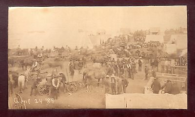 1889 Rare & Historic Event ~ Guthrie Oklahoma Land Rush of Indian Territory