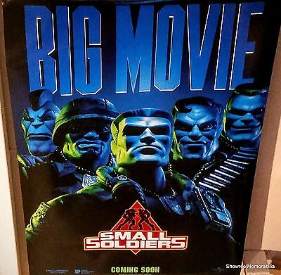 Small Soldiers 1998 Authentic 1 Sheet Advance Cinema Poster Action Sci Fiction