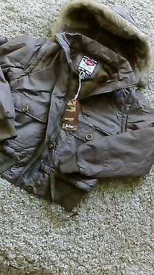 Lee Cooper Ladies /girls Padded Hooded Jacket Size 12 Brown New Quality Coat
