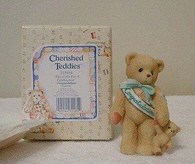 Cherished Teddies CONGRATULATIONS-CALLS FOR CELEBRATION
