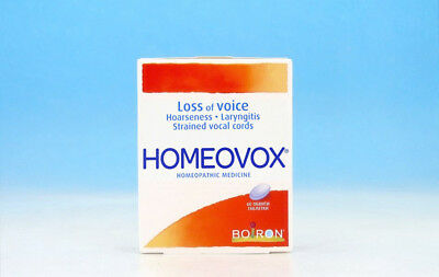 HOMEOVOX ® Homeopathic Voice Loss Hoarseness Strained Vocal Cords Laryngitis