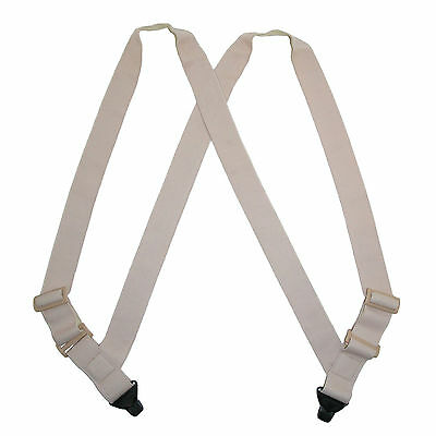 New CTM Men's Undergarment TSA Compliant Side Clip Airport Suspenders