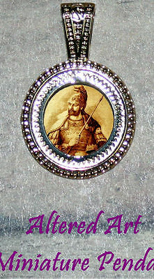 EMPEROR of CONSTANTINE altered Art Ornament Frame Pendant 4 Necklace